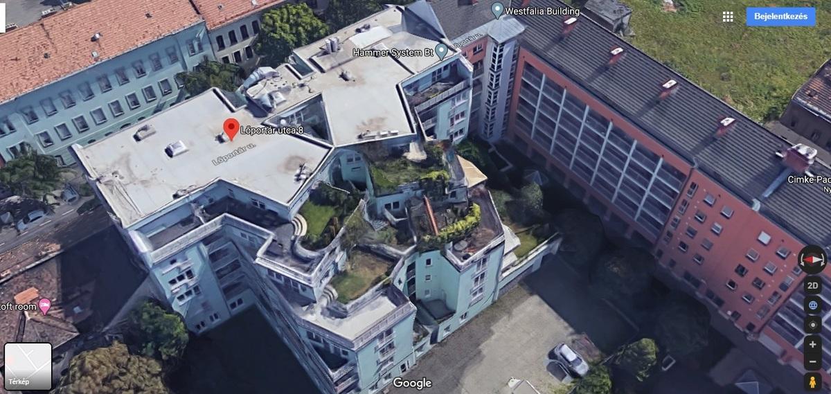 XIII., Lőportár utca, Forrás: Google Maps