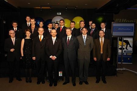 Az Eufonika projekt csapata (Magyar Telekom és Combridge munkatársak) - A sajtótájékoztatót és a fogadást a Capital Communications szervezte