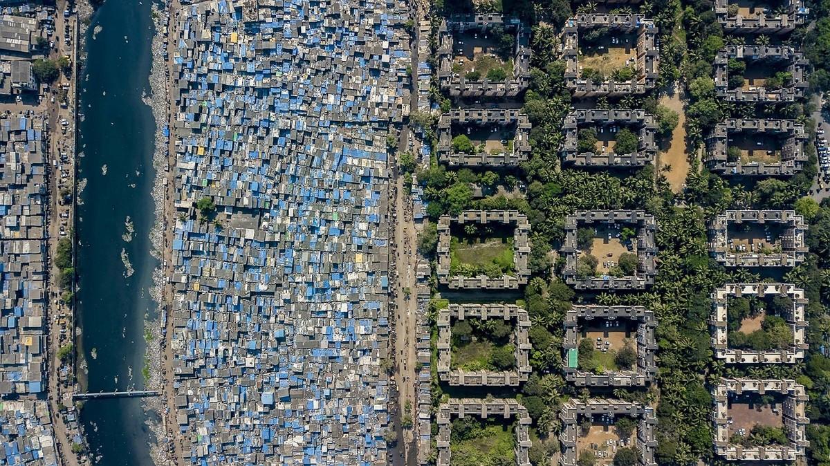 Dharavi nyomornegyed, Mumbai, India