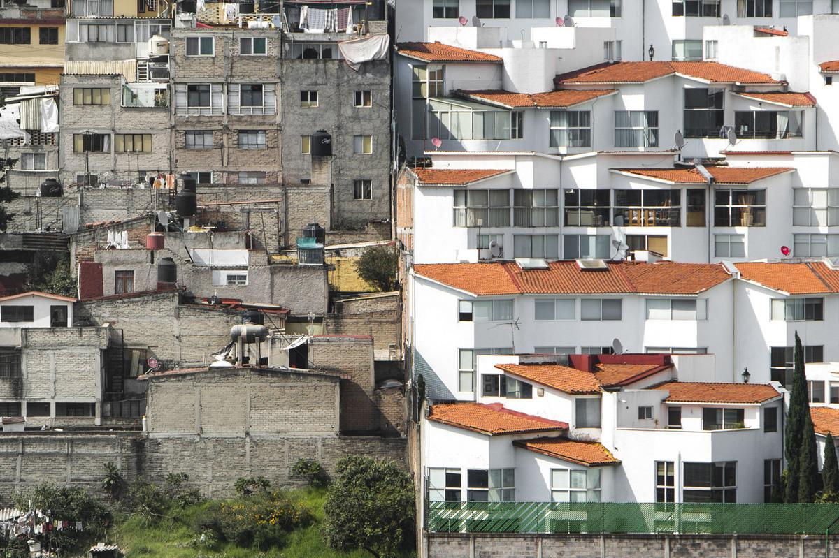 A népszerű Santa Fe lakónegyed, Mexikóváros