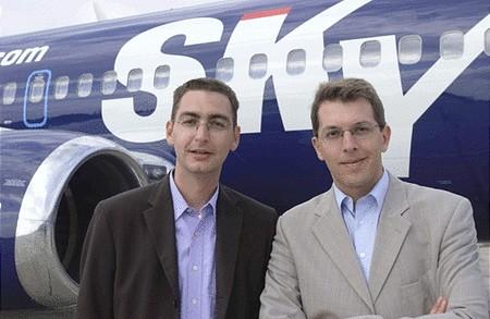 Alapítótagok: Skowronek (balra), Mandl (jobbra)