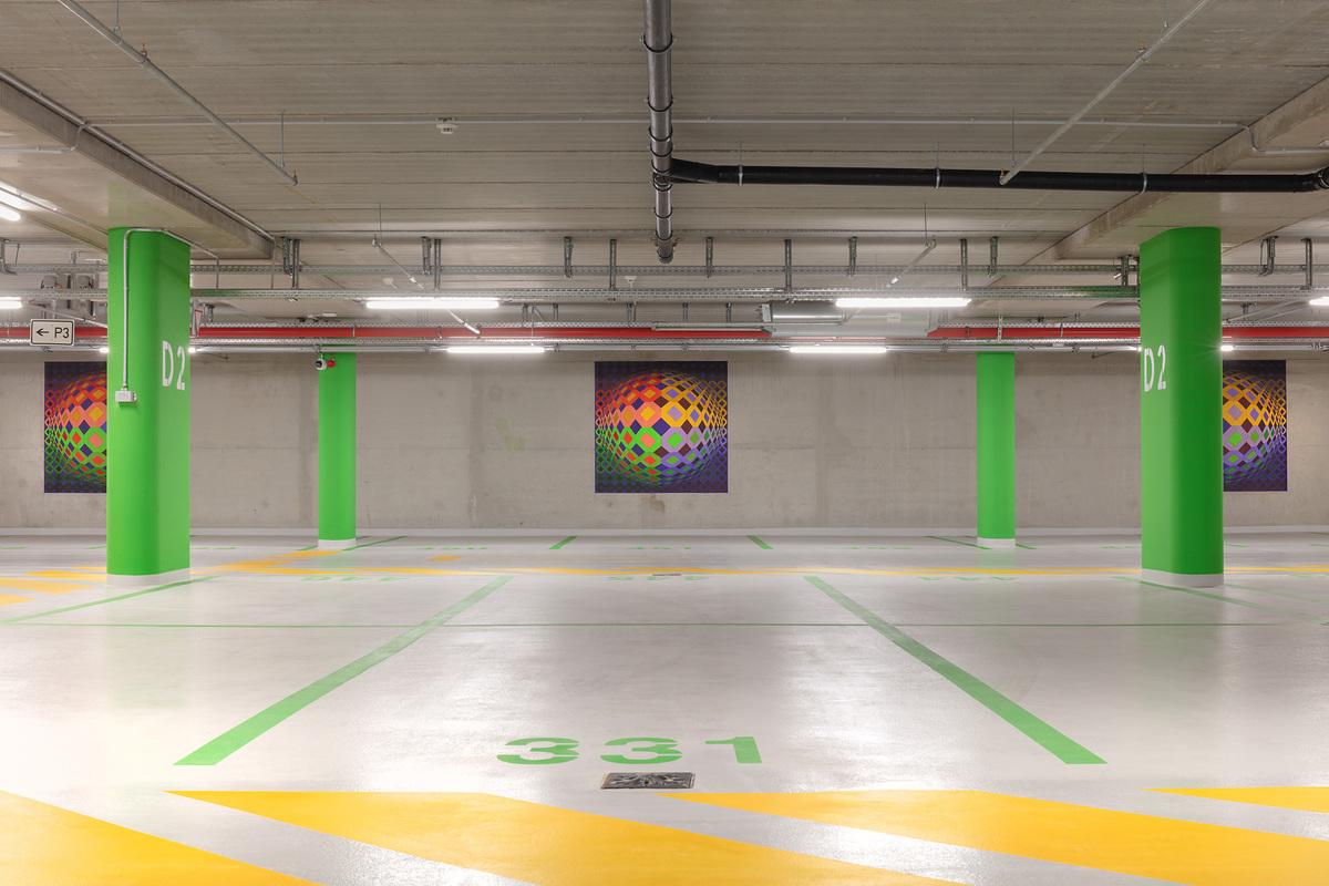 Vasarely alkotása a 2020 decemberében átadott Múzeum Mélygarázsban