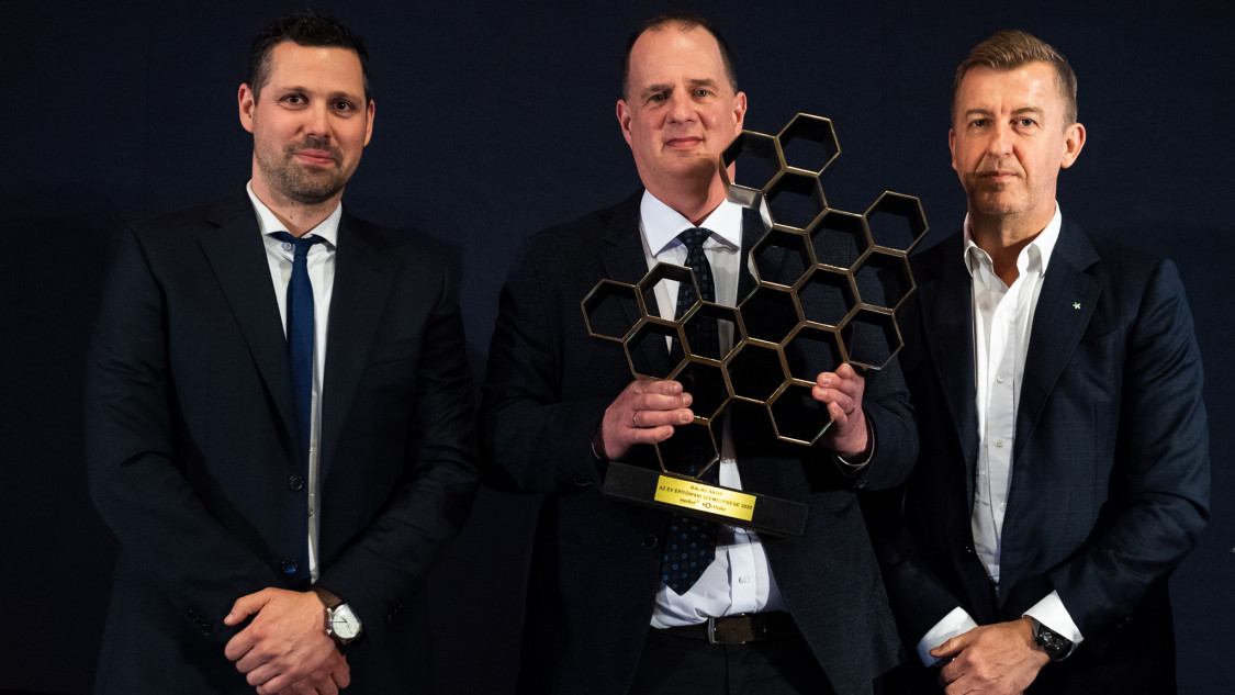 Ditróy Gergely, Balás Ákos és Scheer Sándor, díjátadó 2020.