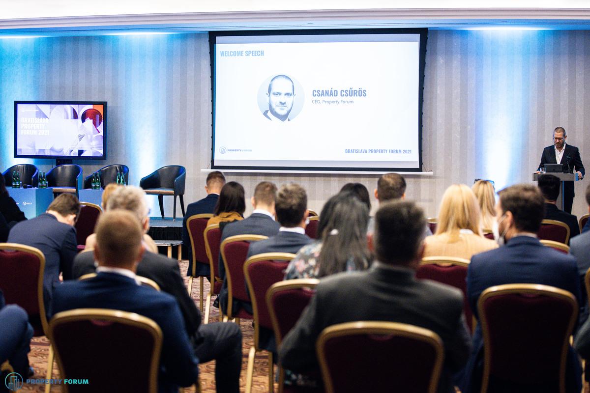 Welcome speech by Csanád Csürös, CEO of Property Forum