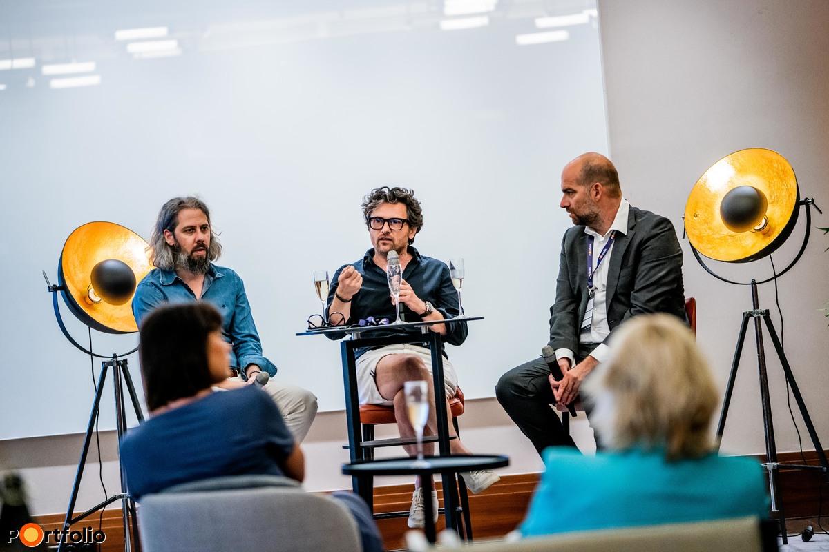 Marketing & Branding workshop. Beszélgetés résztvevői: Unger Zsolt (Unger & Partners, ügyvezető), Ipacs Géza (Apacs Stúdió, ügyvezető) és moderátor Bán Zoltán (Net Média Zrt. (Portfolio), vezérigazgató)