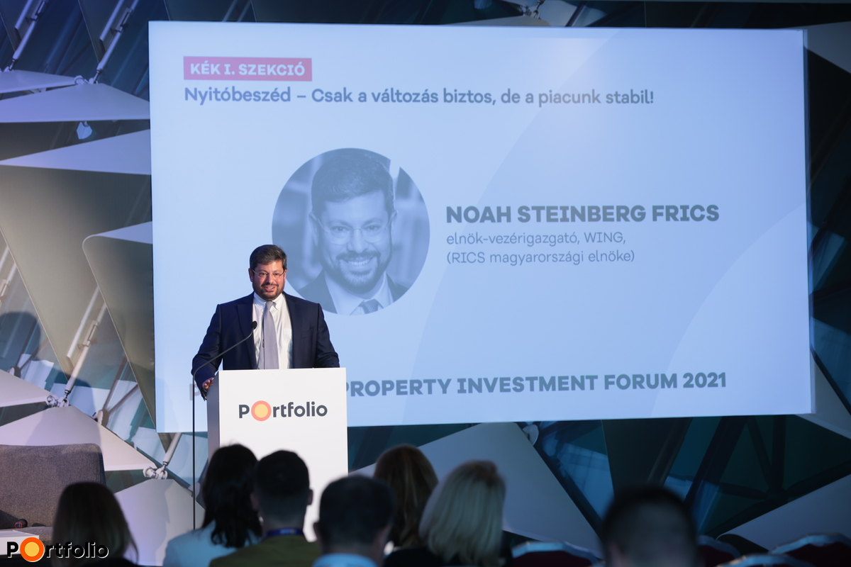 Noah Steinberg FRICS (WING, elnök-vezérigazgató): Nyitóbeszéd – Csak a változás biztos, de a piacunk stabil!