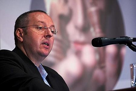 Hamecz István (elnök-vezérigazgató, OTP Alapkezelő Zrt.) a piac és vagyonkezelés kapcsolatáról tartott előadást.