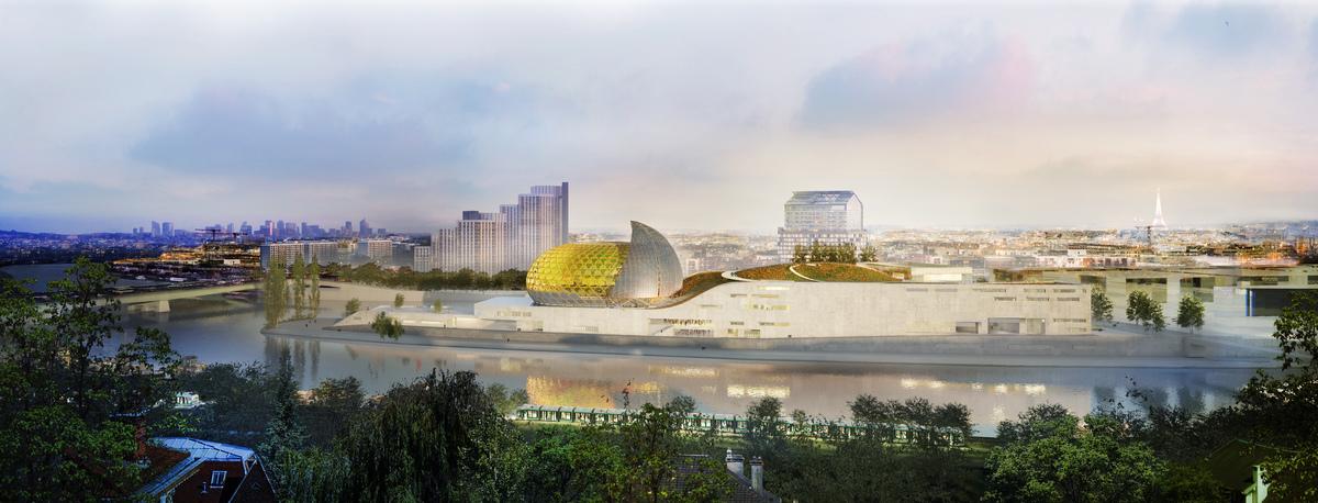A legjobb tervezett projekt: Cité musicale départementale de l\'Île Seguin (Boulogne-Billancourt, Franciaország)