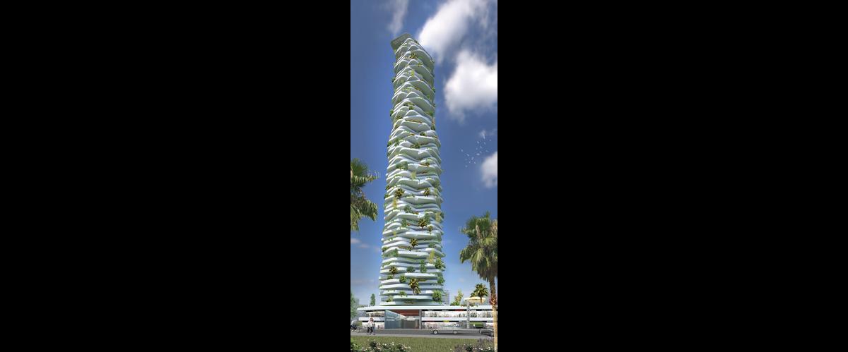 Közönségdíj: Oxygen Eco-Tower (Jakarta, Indonézia)
