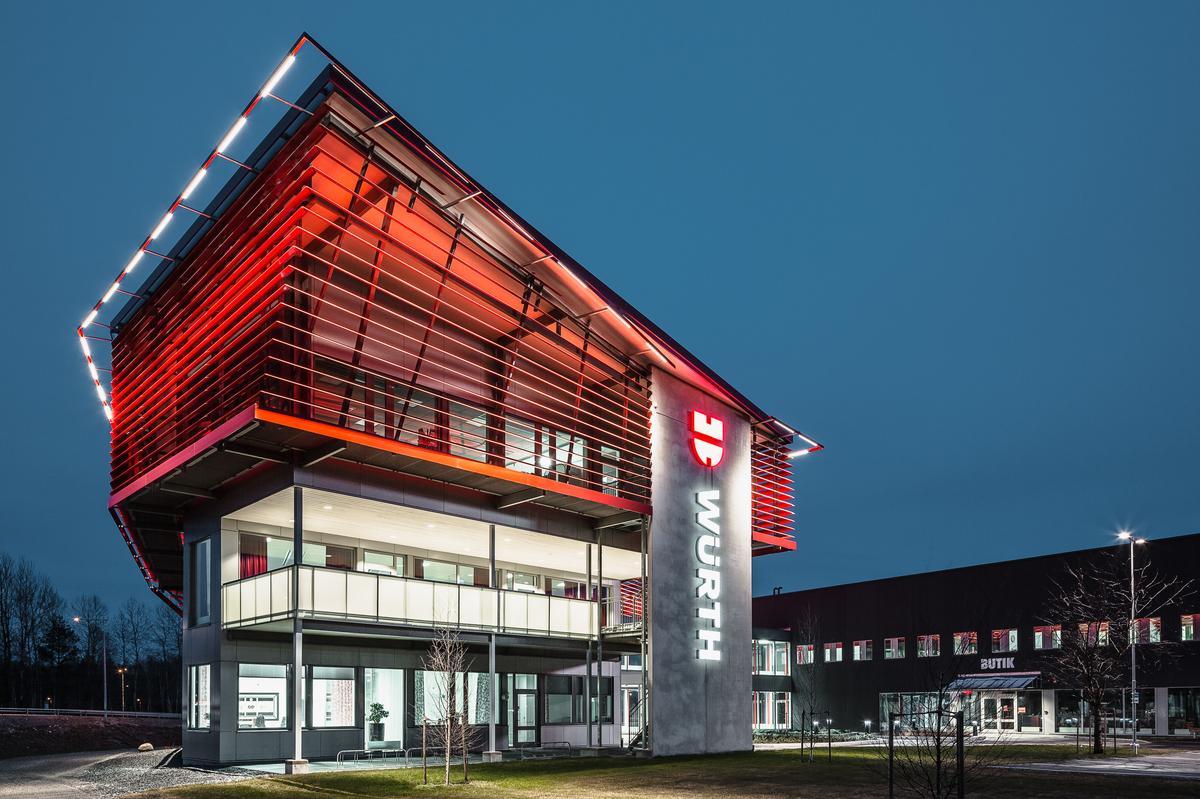 A legjobb ipari ingatlan: Würth Svenska AB (Örebro, Svédország)
