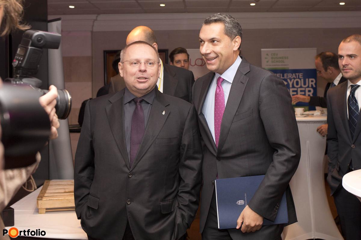 Spéder Zoltán, a CEMP elnöke és Lázár János miniszter a konferencia előtt.