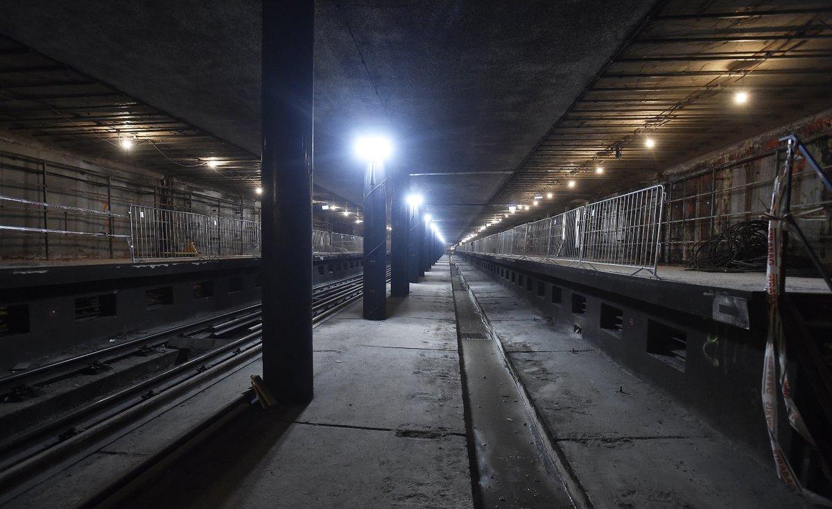 A 3-as metróvonal felújítás alatt lévő Újpest-központ megállóhelye . MTI Fotó: Máthé Zoltán