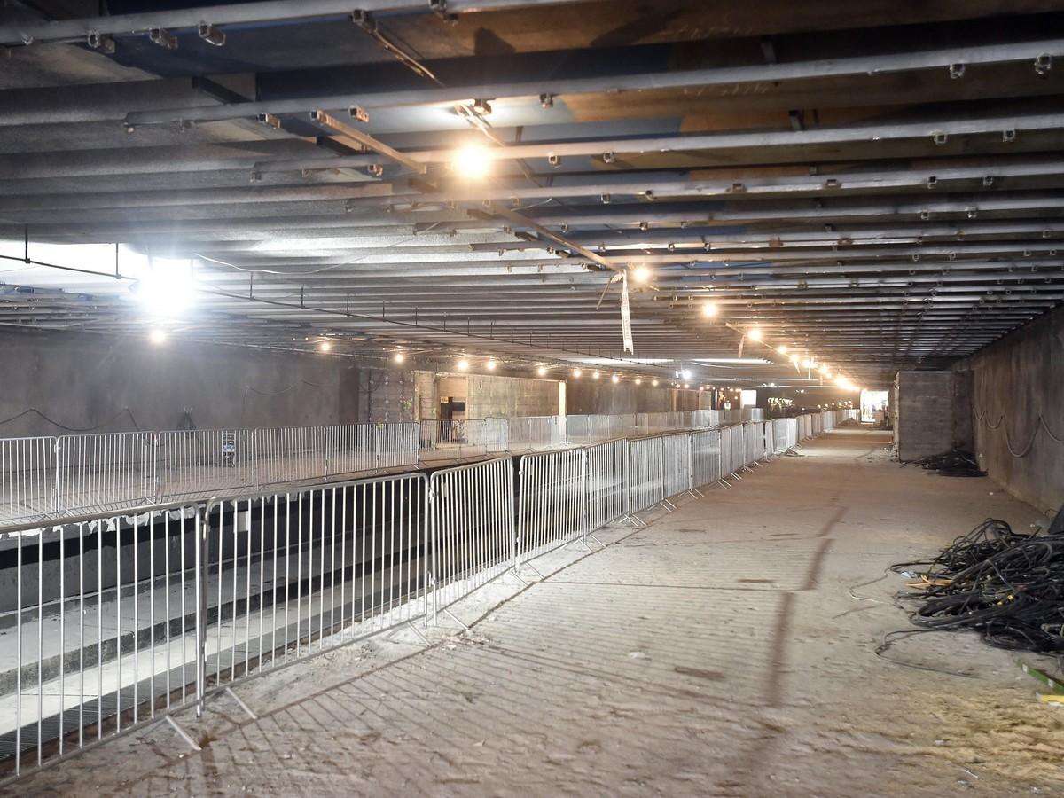 A 3-as metróvonal felújítás alatt lévő Újpest-városkapu megállóhelye 2018. március 27-én. MTI Fotó: Máthé Zoltán