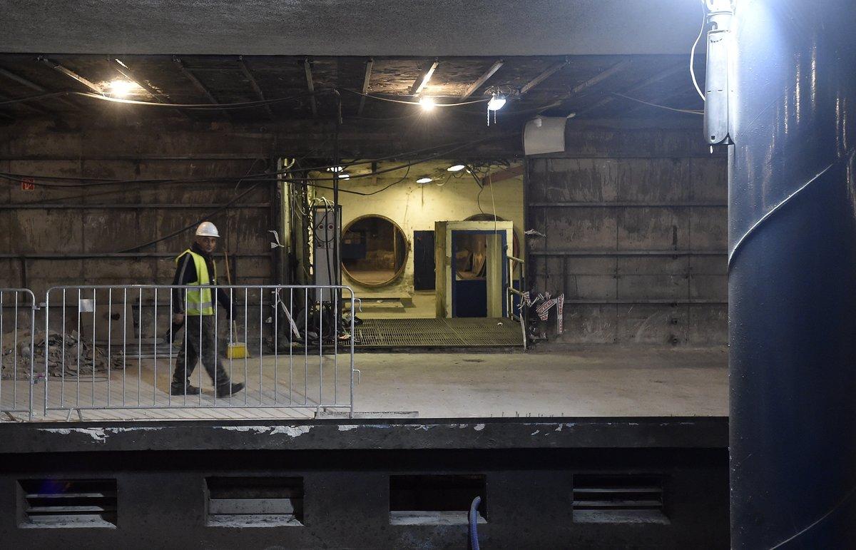 A 3-as metróvonal felújítás alatt lévő Újpest-központ megállóhelyének főszellőztetője. MTI Fotó: Máthé Zoltán
