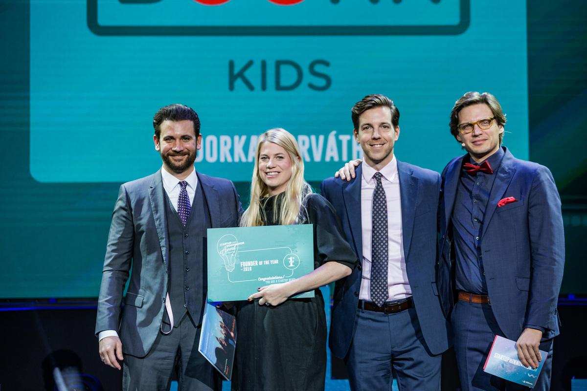 Startup and Innovation Award of Hungary díj év alapító kategóriájának győztese, Horváth Dorka, a BookR alapítója.
