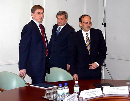 Gyurcsány Ferenc Csányi Sándorral és Erdei Tamással